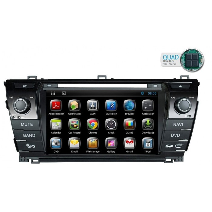 Radio DVD GPS Android HD QUAD CORE Toyota Corolla 2014
