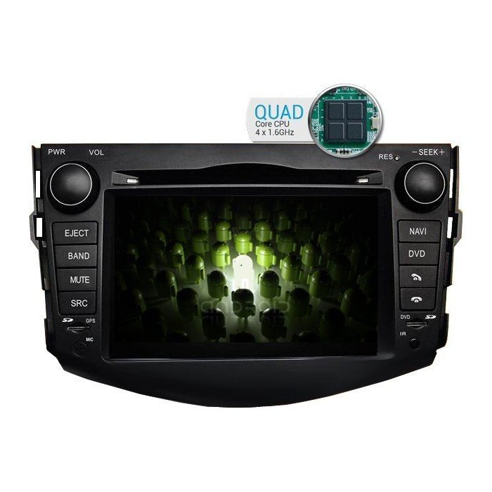 Radio DVD GPS Android 9 QUAD CORE Toyota RAV4 2006 - 2012