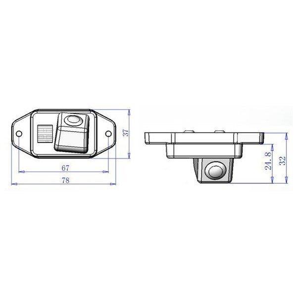 rear parking camera land cruiser 120 KDJ120