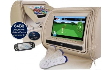 LCD Headrest with DVD, USB, SD Card and games. REF: TR1426.