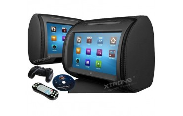 "2*9""Digital Touch Screen Headrest with DVD, USB, SD Card and games. REF: TR1428"