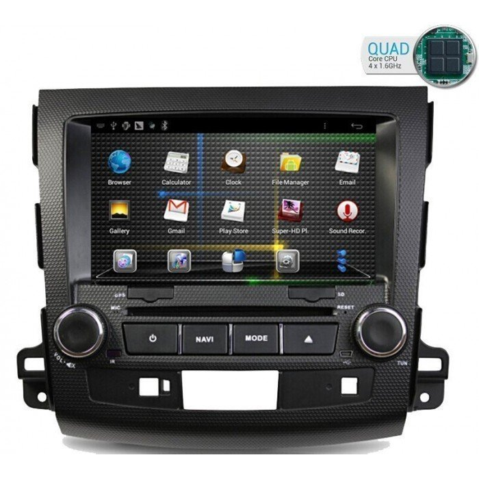 Radio DVD GPS Android HD QUAD CORE Mitsubishi Outlander / Citroen C Crosser