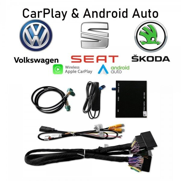 Interface Carplay & Android Auto Volkswagen Seat Skoda MQB WIRELESS TR3554