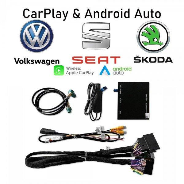 Interface Carplay & Android Auto Volkswagen Seat Skoda MQB WIRELESS TR3554