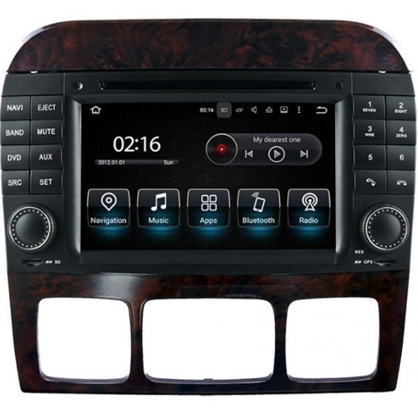 Radio GPS head unit Mercedes Benz S Class W220 Android 10 TR3566