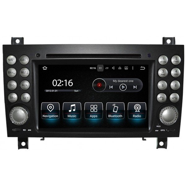 Radio GPS head unit Mercedes Benz SLK Android 10 TR3568