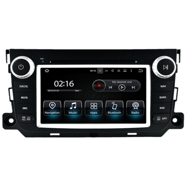 Radio navegador GPS Smart Fortwo Android 10 TR3578