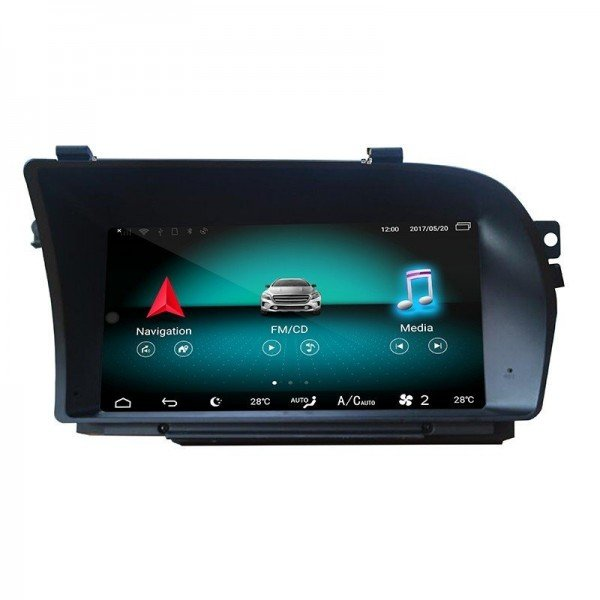 """Pantalla 9.33"""" GPS Mercedes Benz Clase S W221 Android 10 4G LTE TR3618"""