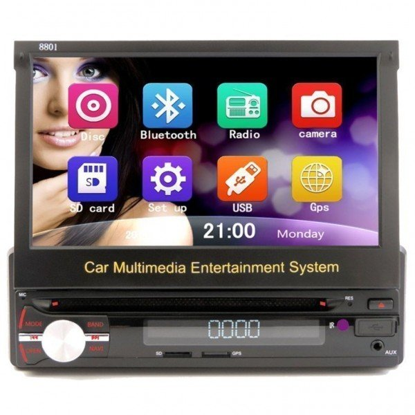 Android Radio GPS 1 DIN multi touch screen  REF:TR2486