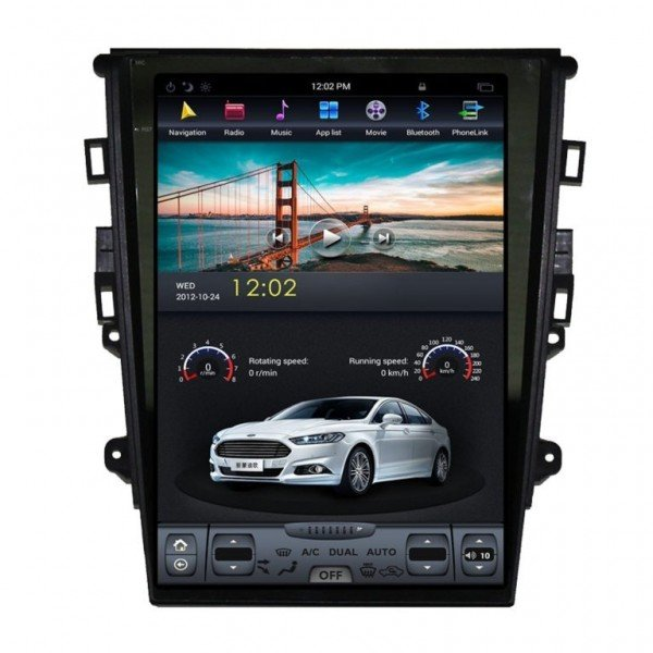 Radio GPS ANDROID TESLA STYLE Ford Mondeo 2013 REF: TR2487