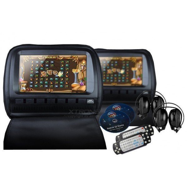 2 LCD Headrest with DVD, USB, SD Card and games. REF: TR1434