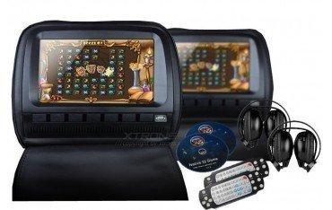 2 Reposacabezas LCD, DVD, USB, SD y juegos. REF: TR1434