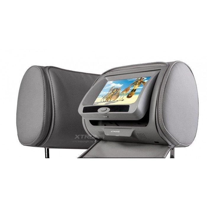 2 Reposacabezas LCD, DVD, USB, SD y juegos. REF: TR1435