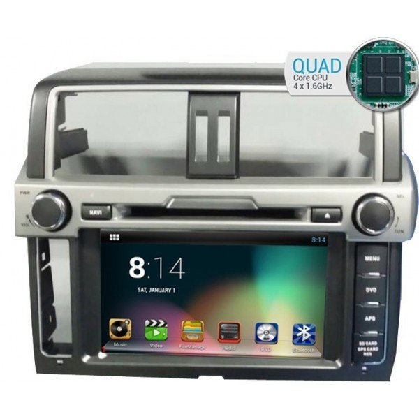 Radio DVD GPS HD QUAD CORE Toyota Land Cruiser PURE ANDROID REF: TR1818