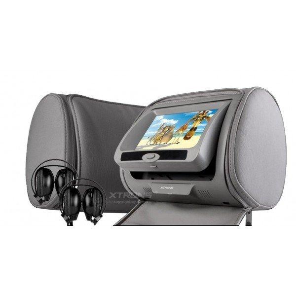 2 Reposacabezas LCD, DVD, USB, SD y juegos. REF: TR1436