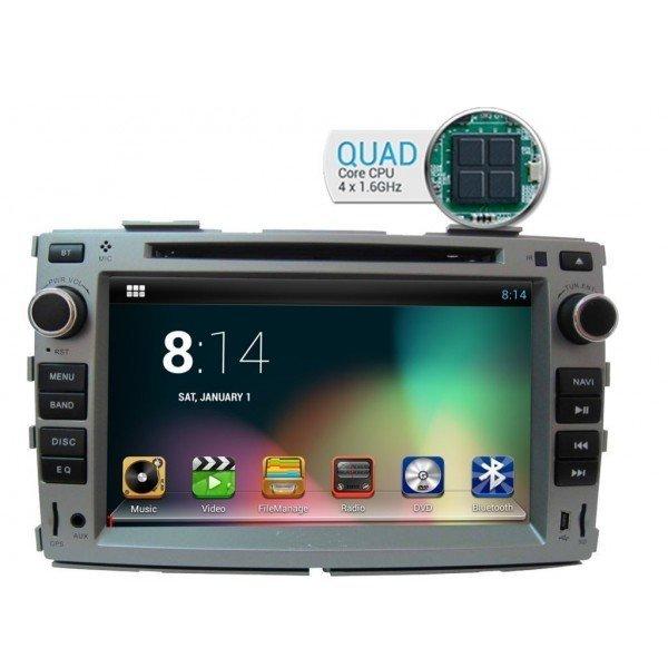 Radio DVD GPS HD QUAD CORE Kia Forte PURO REF: TR1826