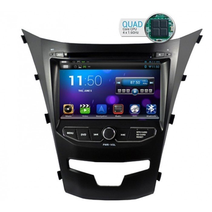 Radio DVD GPS HD OCTA CORE 4G LTE SsangYong Korando ANDROID Tradetec