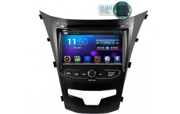 Radio DVD GPS HD OCTA CORE 4G LTE SsangYong Korando ANDROID REF: TR1833
