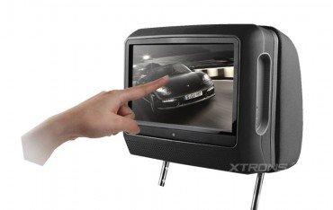 2 Reposacabezas LCD, DVD, USB, SD y juegos. REF: TR1437