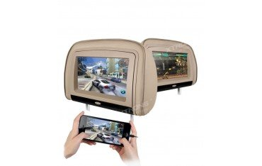2 LCD Headrest with DVD, USB, SD Card and games. REF: TR1439