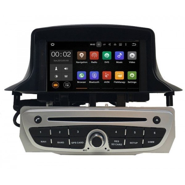 "Radio DVD 7"" GPS RENAULT MEGANE 3 ANDROID TR2646"