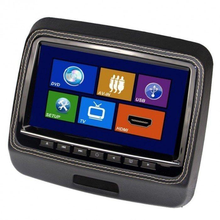 Pantallas para reposacabezas LCD, DVD, USB, SD y juegos. REF: TR1443