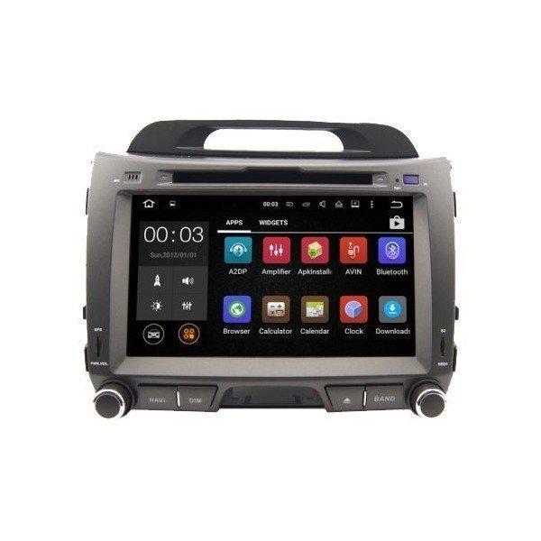 Radio DVD GPS HD QUAD CORE Kia Sportage R Android REF: TR2786