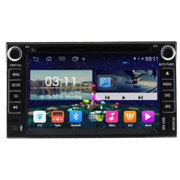 Radio DVD GPS HD QUAD CORE Kia Universal Android REF: TR2790