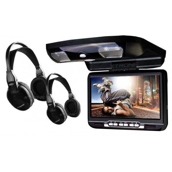 Monitor LCD 9 pulgadas, DVD, USB, SD y juegos REF: TR1450