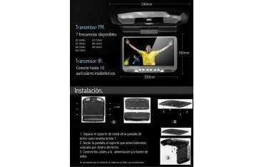 lcd car roof monitor 9 inch games
