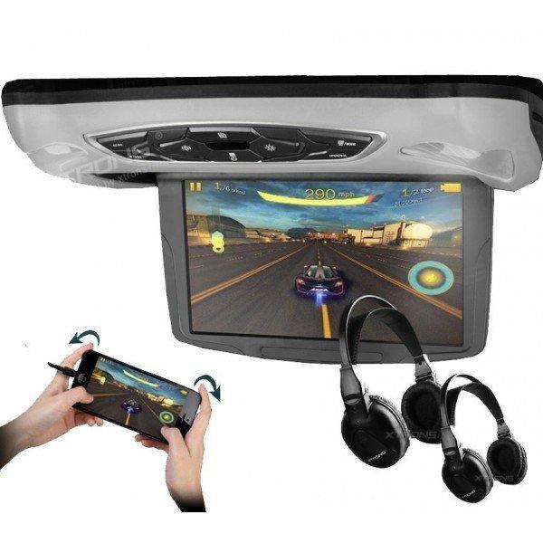 Monitor LCD 10,1 pulgadas. Reproductor DVD, USB, SD y juegos REF: TR1454