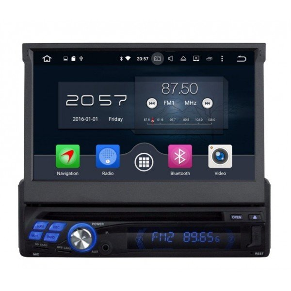 GPS DVD 1 DIN Android 8,0 OCTA CORE 4GB RAM REF:TR2889