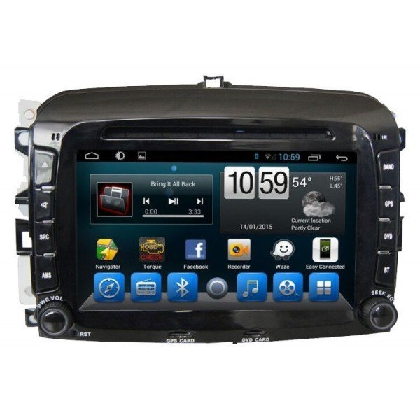Radio navegador GPS Fiat 500 Android 10 TR2893