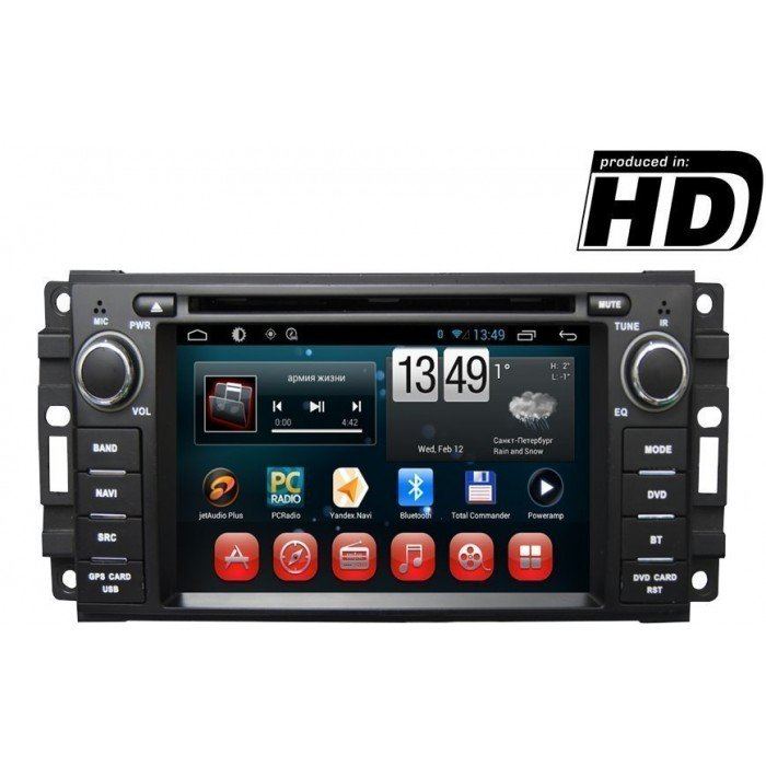 Radio DVD GPS HD Dodge, Chrysler, Jeep ANDROID 9,0