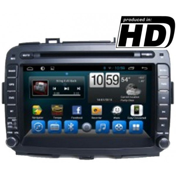 Radio DVD GPS HD  Kia Carens PURE ANDROID REF: TR1864