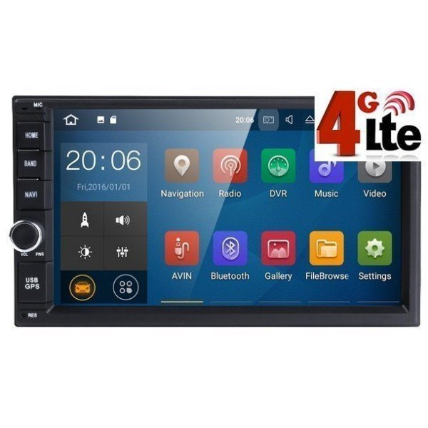 multimedia 2 din unit android 4G lte