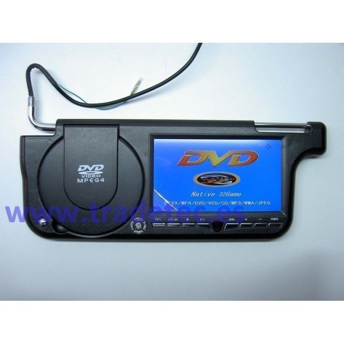 """Sun visor with LCD 7"""" and DVD"""