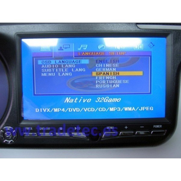 "Sun visor with LCD 7"" and DVD"