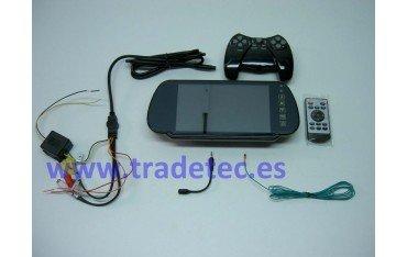 """Retrovisor LCD 7"""", bluetooth, juegos, Emisión FM, REF:TR148"""