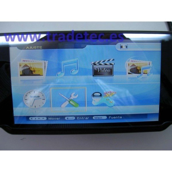 "Retrovisor LCD 7"", bluetooth, cámara"
