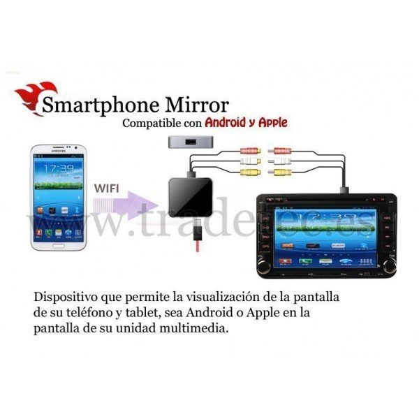 Smartphone mirror WIFI para Android y Apple REF: TR1480
