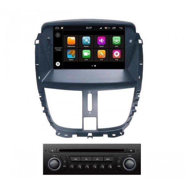 Radio DVD GPS Android HD OCTA CORE S200 Peugeot 207 REF: TR3038