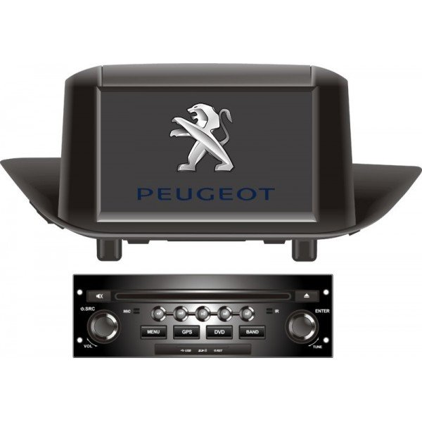 """Radio Monitor 7"""" GPS 4G LTE Peugeot 308 Android"""