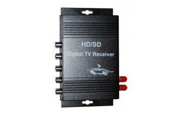 Sintonizador televisión TDT en movimiento coche doble antena TR151