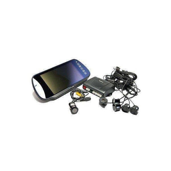 Sensores de aparcamiento y cámara trasera con pantalla LCD retrovisor Ref:TR315