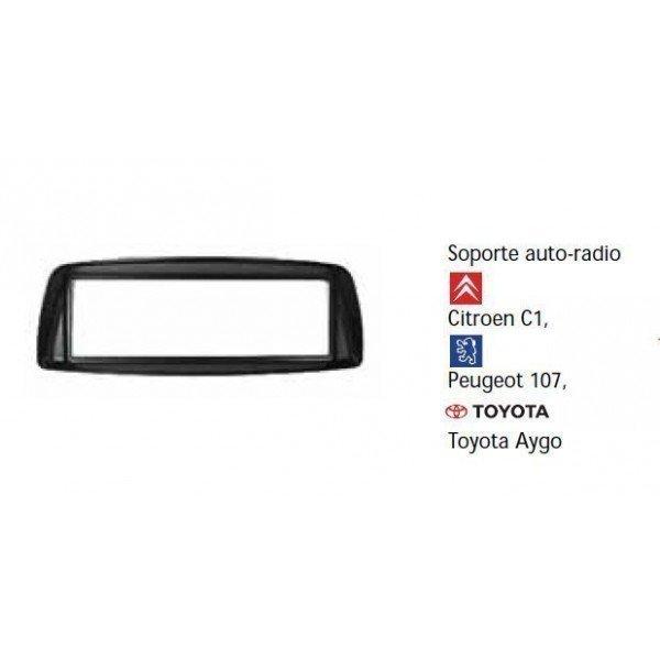 Soporte auto radio Citroen C1, Peugeot 107 Toyota Aygo Ref: TR456