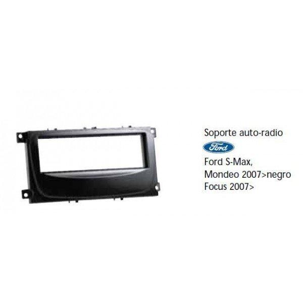 Soporte auto radio Ford S-Max, Mondeo 2007-, Focus 2007- negro Ref: TR488