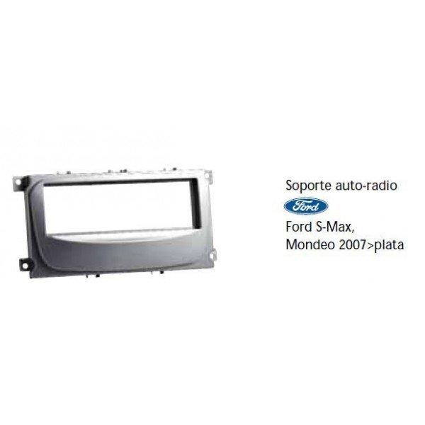 Soporte auto radio Ford S-Max, Mondeo 2007-, Focus 2007- plata Ref: TR489