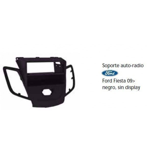 Fascia panel Ford Fiesta 09- black without display Ref: TR491