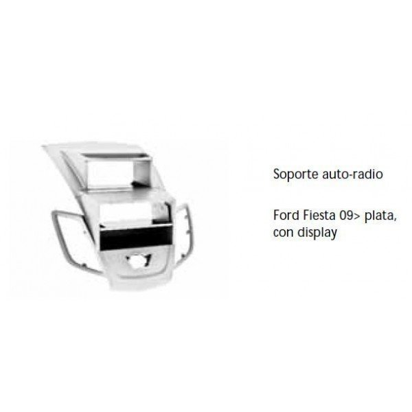 Fascia panel Ford Fiesta 09- silver with display Ref: TR492